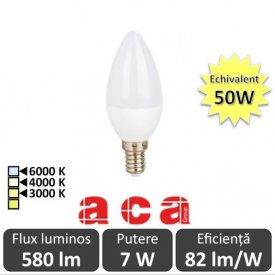 Bec LED Aca LED 7W E14 3000/4000/6000K