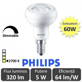 Bec LED Philips - CorePro LED spot MV 5W R50 230V E14 alb-cald