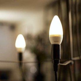 Bec LED Philips - LEDcandle 6W E14 230V B39 alb-cald