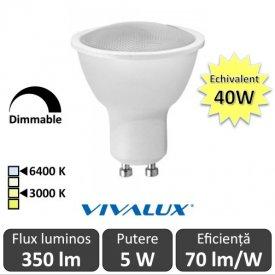 Bec Vivalux LED SPOT GU10 Vivalux 5W Dimabil