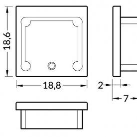 Element capat profil LED Smart16  -set 2buc