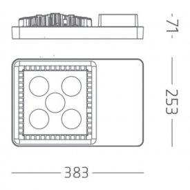 Gewiss - Proiector LED industrial Smart4LED 62W, alb-neutru
