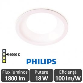 Philips Ledinaire DN010B LED18S/840 1800lm PSU WH