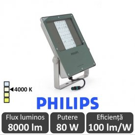 Philips-Proiector LED BVP130 80W simetric,alb-neutru