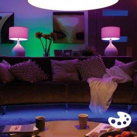 Philips - Set becuri HUE RGB 10W A60 E27 (3 becuri + 1 bridge + 1 dimmer)