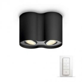 Philips - Spot aplicat HUE Pillar Negru 2x5.5W LED
