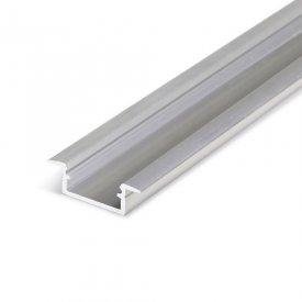 Profil LED încastrat BEGTIN 12, aluminiu neanodizat, lungime 2m