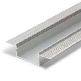 Profil LED încastrat VARIO 30-04, aluminiu neanodizat, lungime 2m