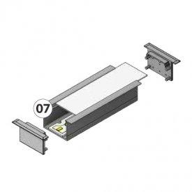 Profil LED încastrat VARIO 30-07, aluminiu anodizat, lungime 2m
