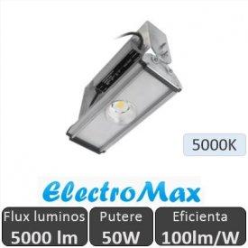Proiector LED industrial cu 1 LED 50W, alb-rece