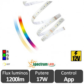 Set Smart Spectrum Bandă RGB+CCT 17W IP44 Compatibil Google si Amazon Alexa