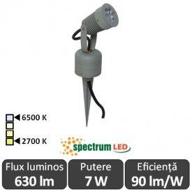 Spectrum Flori 7W IP44 2700-6500K  Alb-Cald/Alb-Rece
