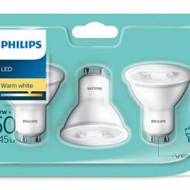 Bec Philips GU10 4.7-50W set 3 bucati