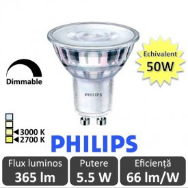 Spot LED Philips - Classic MV 5.5-50W GU10 Dimabil 2700/3000K