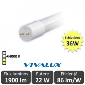 Tub LED Vivalux Royal LED 22W T8 1200mm 4000K alb-neutru