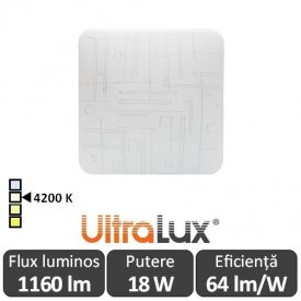 Ultralux Plafonieră Led 18W  SPLDS1842