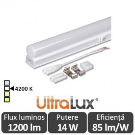 Ultralux Tub LED Thermoplastic 14W T5 1200mm 4200K alb-neutru