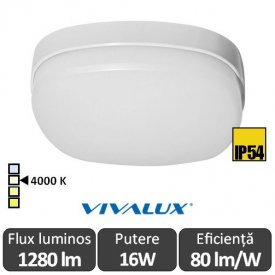 Vivalux BALI LED pătrat 16W IP54 alb-neutru