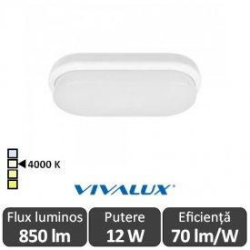 Vivalux ELLIS/O Led 12W IP54 4000K Alb-Neutru