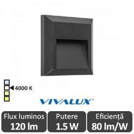 Vivalux RINO SQ 1.5W IP65 4000K Alb-Neutru