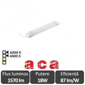 Aca Lighting Corp Iluminat Industrial cu Led Rezistent la Apa TETE Alb-Neutru/Rece 18W