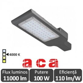 Aca Lighting - NOLA Corp iluminal stradal cu LED 100W 4000K alb-neutru