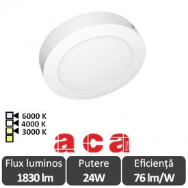 Aca Lighting Panou Led Rotund Arca 24W