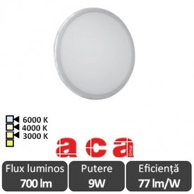 ACA Lighting Panou Led Rotund Flexi Alb 9W