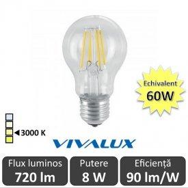 Bec LED Clasic Vivalux 8W 720lm E27 AF60