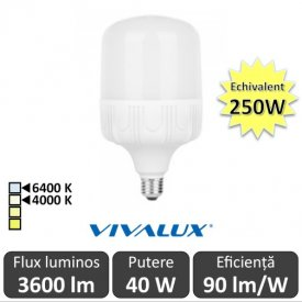 Bec Vivalux LED TURBO E27 40W 4000/6400K