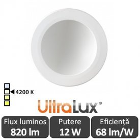 Downlight Led Rotund Lumină Indirectă 12W 4200K ( Alb-Neutru )