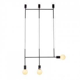 Lampa suspendata TNK853P64BK 3xE27