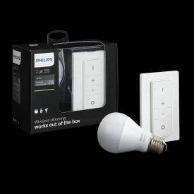 Philips - Set Bec HUE White Light 10W cu variator wireless (1 bec + 1 variator)