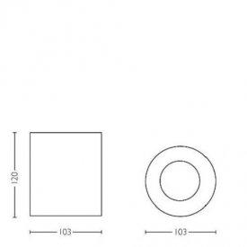 Philips - Spot aplicat HUE Pillar Negru 1x5.5W LED