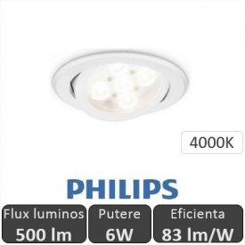 Philips - Spot LED RS011B 6W/840 orientabil, alb-neutru