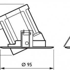 Philips - Spot LED RS011B 8W/840 orientabil, alb-neutru