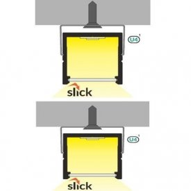 Profil LED aparent SMART 16, aluminiu neanodizat, lungime 2m