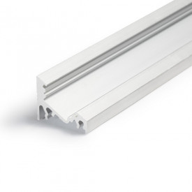 Profil LED de colț CORNER 10, aluminiu neanodizat, lungime 2m