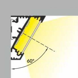 Profil LED de colț CORNER 27, negru, lungime 2m