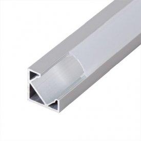 Profil LED de colt tip A205,pentru montaj aparent, lungime 2m