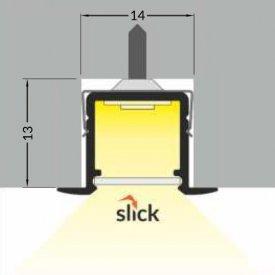 Profil LED încastrat SMART IN 10, negru, lungime 2m