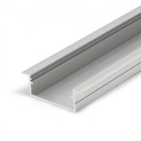 Profil LED încastrat VARIO 30-06, aluminiu neanodizat, lungime 2m