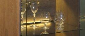 Profil LED pentru sticlă TWIN 8, aluminiu, lungime 2m