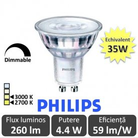 Spot LED Philips - Classic MV 4.4-35W GU10 Dimabil 2700/3000K