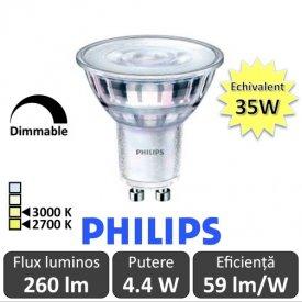 Spot LED Philips - Classic MV 4.4-35W GU10 Dimabil 2700/3000K