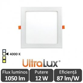 Ultralux Panou Led 12W Alb-Neutru LPS1240
