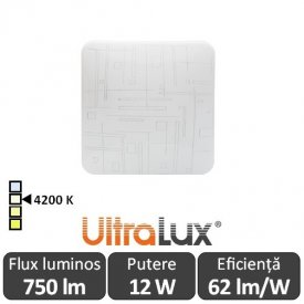 Ultralux Plafonieră Led 12W  SPLDS1242