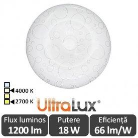 Ultralux Plafonieră Led 18W  SPLD1840/1827