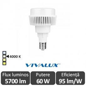 Vivalux AJAX LED 60W E27 4000K ( Alb-Neutru )