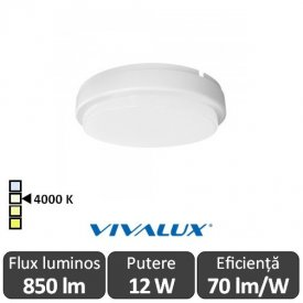 Vivalux ELLIS R Led 12W IP54 4000K Alb-Neutru